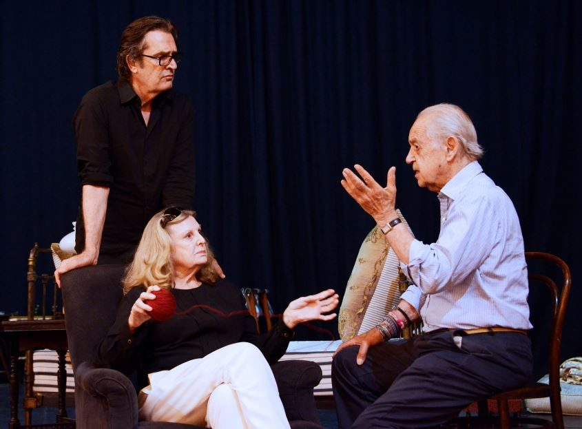 Cast pictured in rehearsal © Nobby Clark
